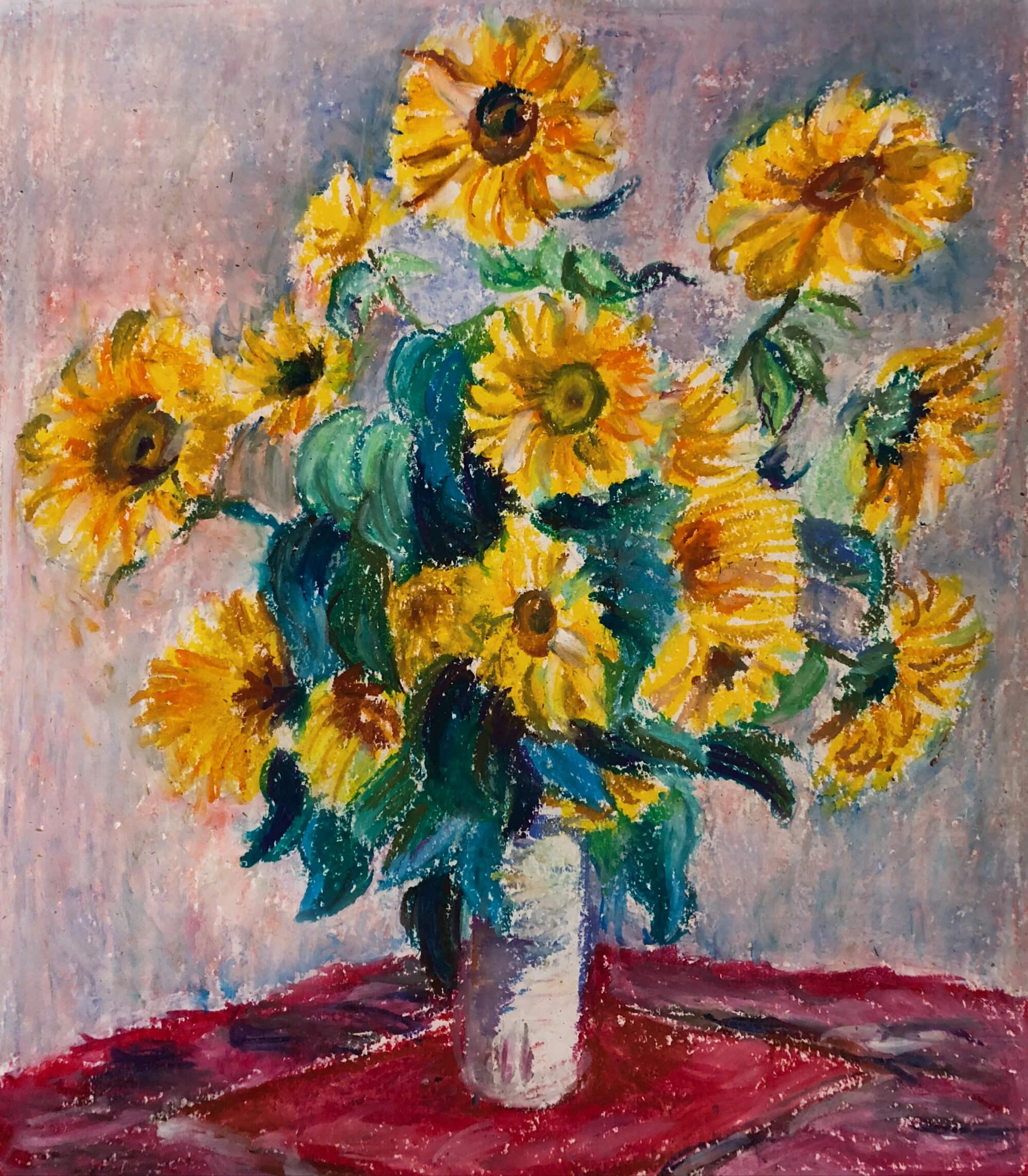 《向日葵》 材质:油画棒
