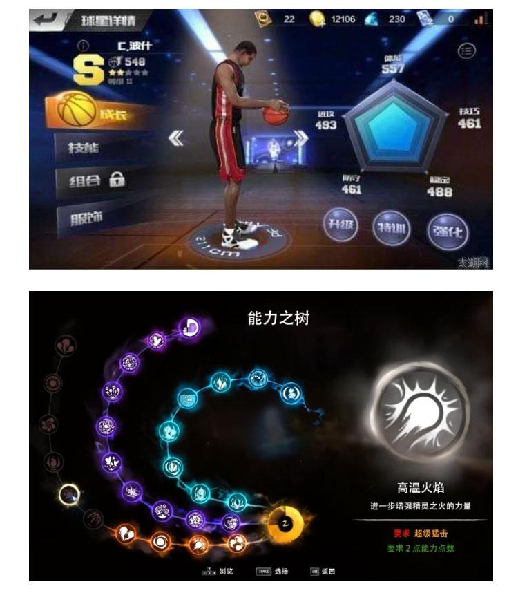 游戏中的角色能力界面