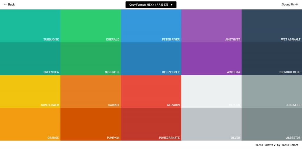 flat UI配色方案