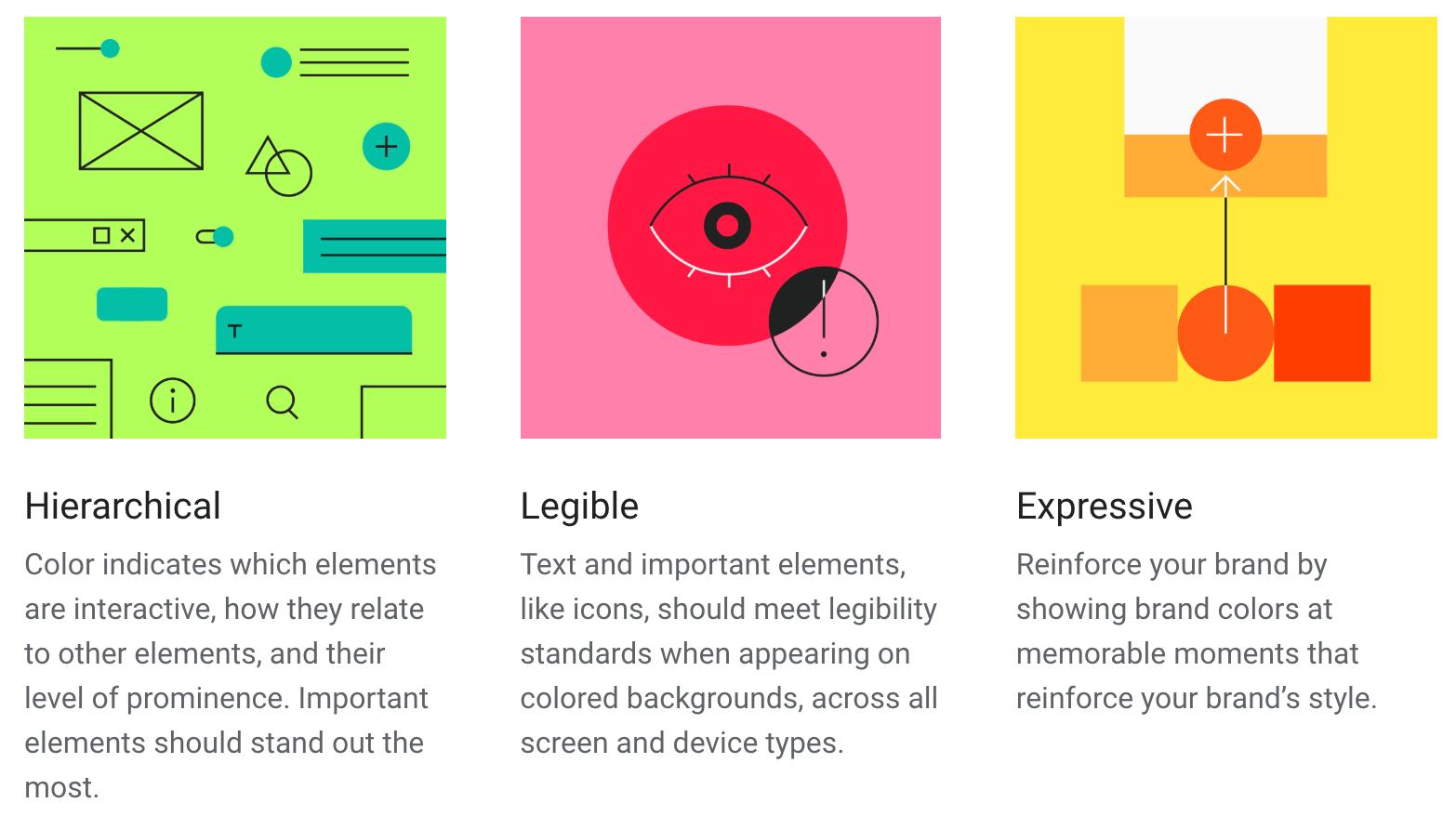 颜色主题的三原则