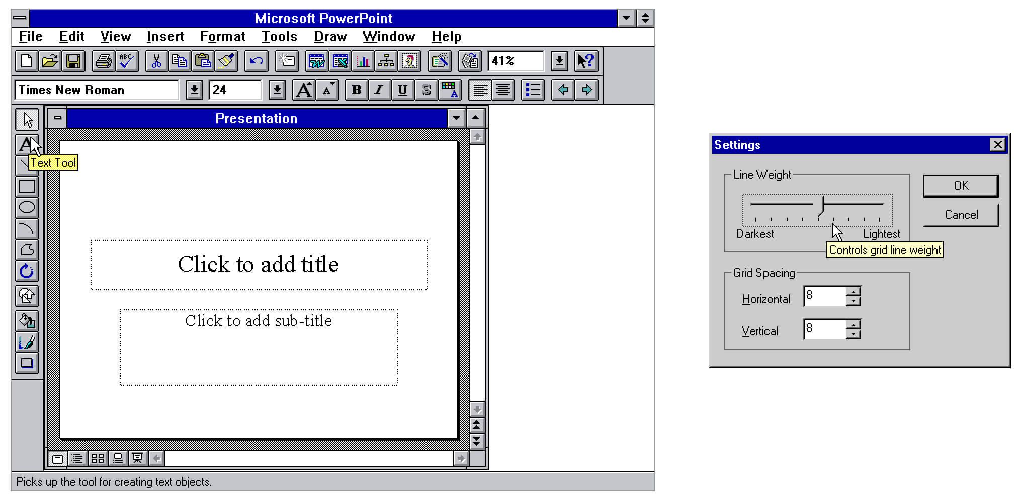 Windows 95中的Tooltip