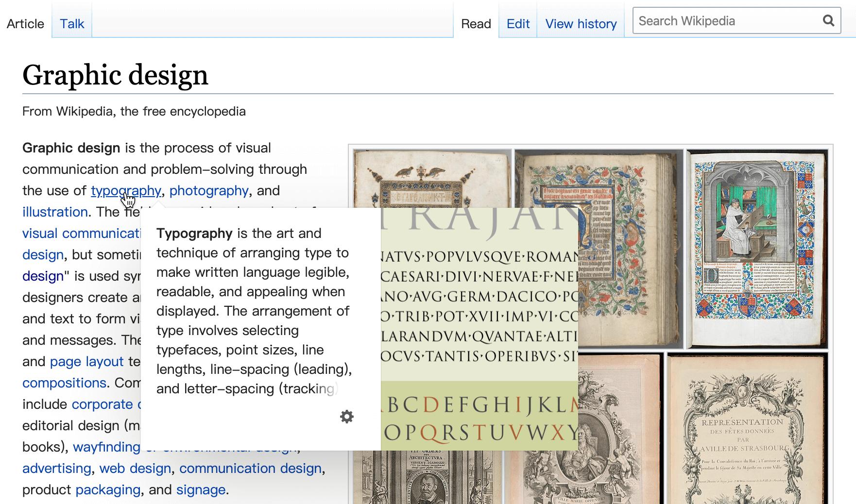 Wikipedia中的Popover