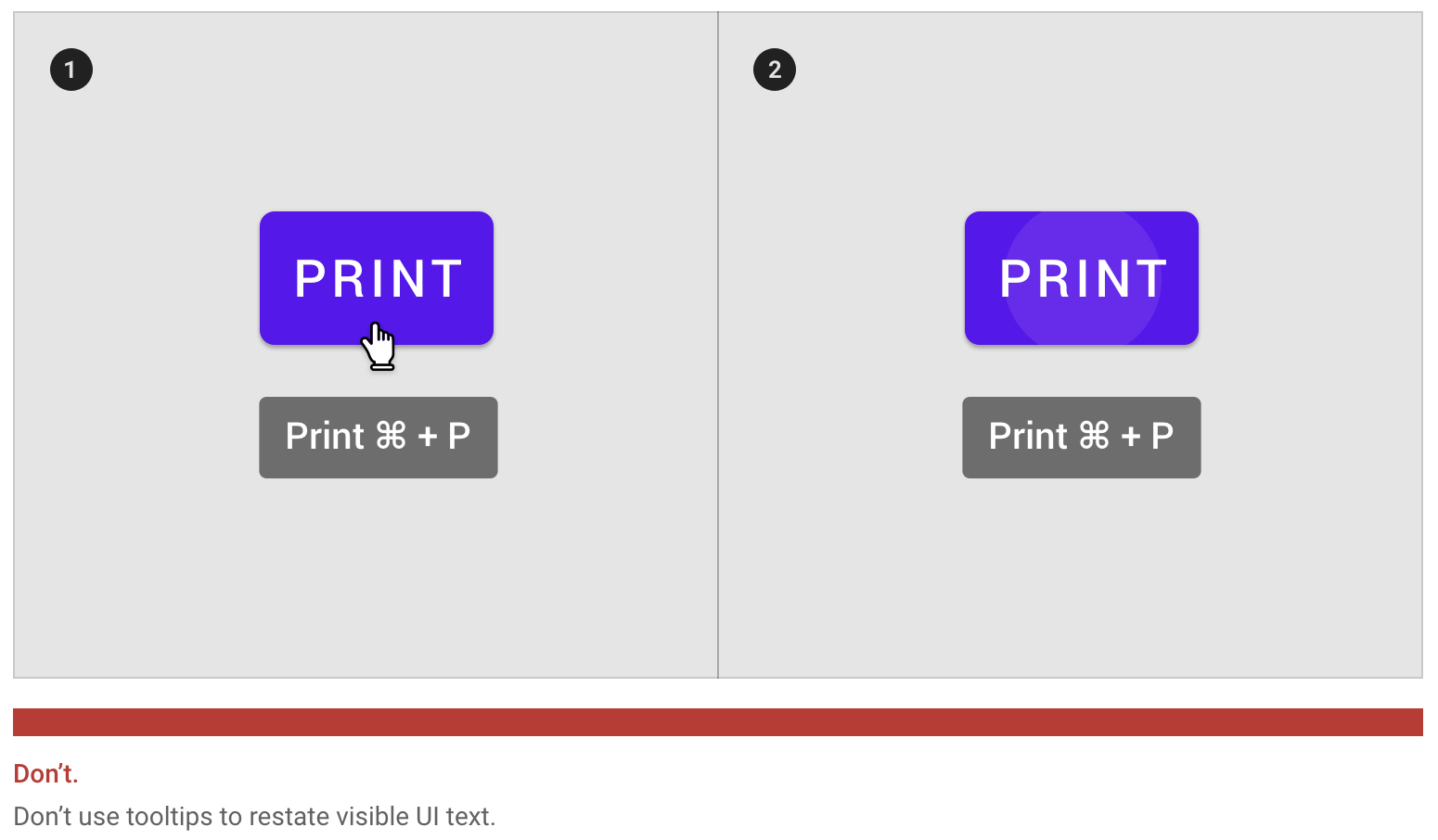 对于已经外显的文字,没有必要使用Tooltip重复展示。